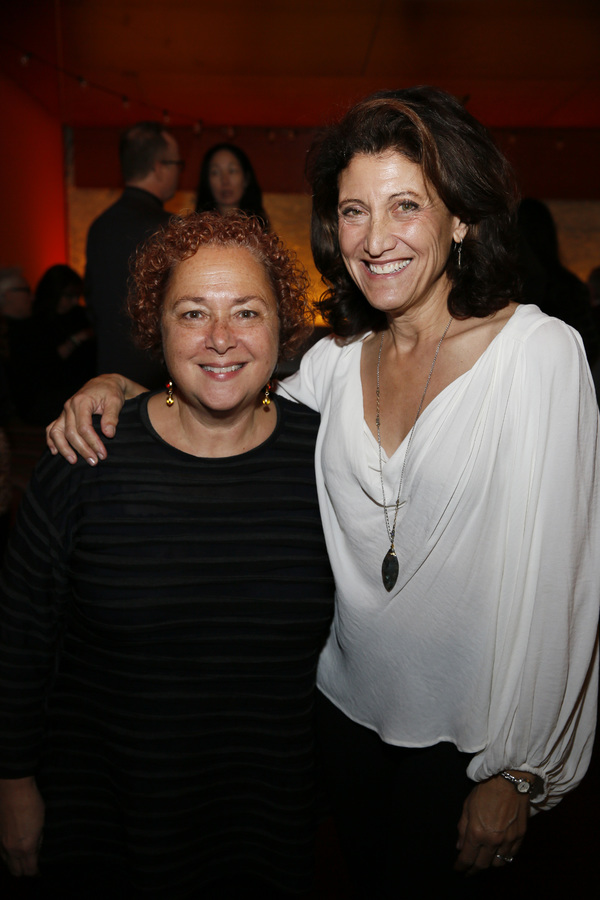 Taper and Douglas General Manager Nausica Stergiou and actor Amy Aquino