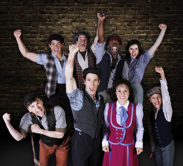 The cast of NEWSIES at Maltz Jupiter Theatre
