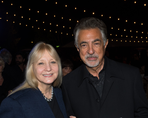 Arlene Vrhel and Joe Mantegna