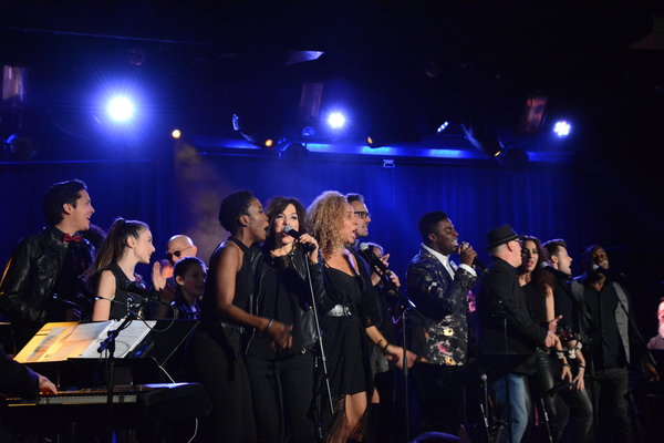 Kyle Taylor Parker and The Broadway Inspirational Voices-Anastasia Talley, Lucia Giannetta, Danielle Chambers, Angela DeCicco, Michael Seelbach and Jason McCollum lead the cast in the finale