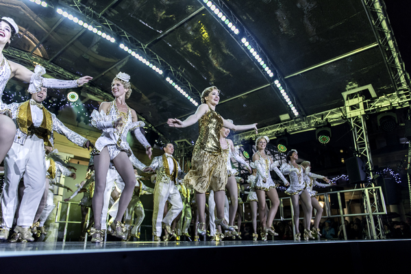 Photo Flash: West End's 42ND STREET Taps at Covent Garden's Christmas Lights Switch-On