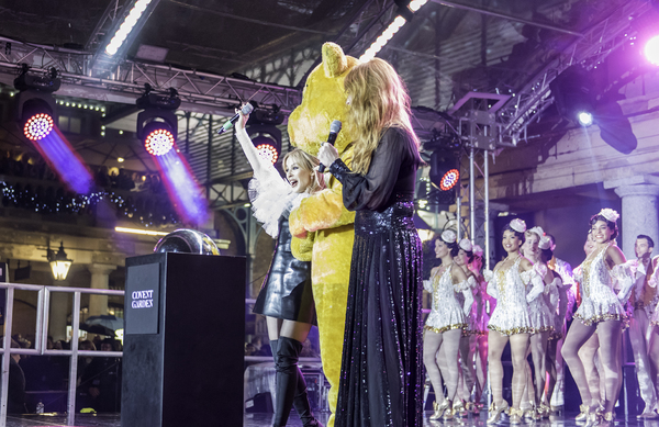 Kylie Minogue and Charlotte Tilbury switch on the lights at Covent Garden