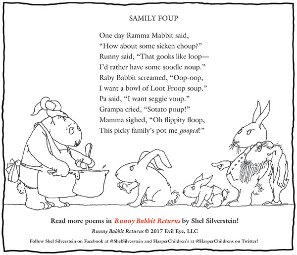A Shel Silverstein Thanksgiving Message About New Book