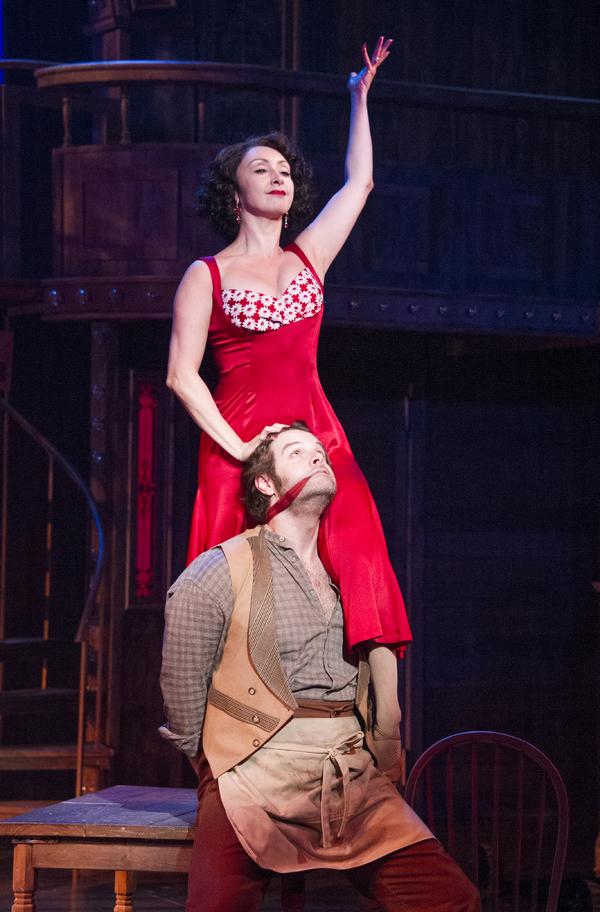 Cole Burden as Lank Hawkins and Natascia Diaz as Irene Roth