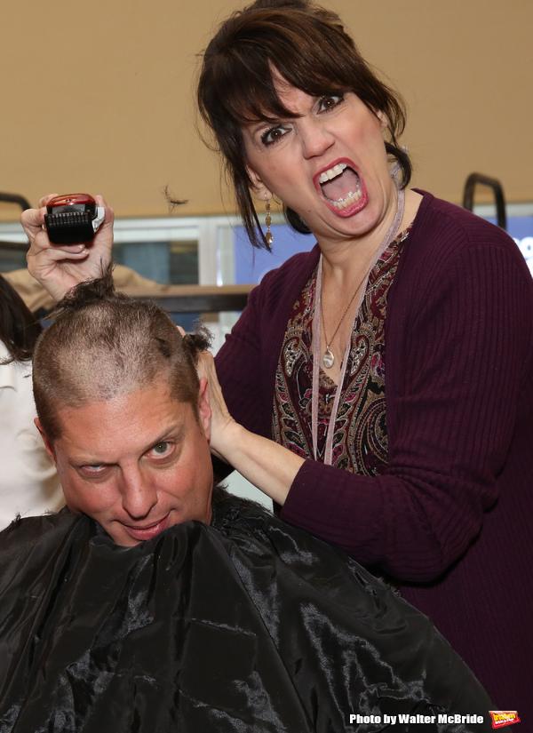 FREEZE FRAME: Beth Leavel and Christopher Sieber Get Hairy as Miss Hannigan Gives Daddy Warbucks a Buzz Cut!