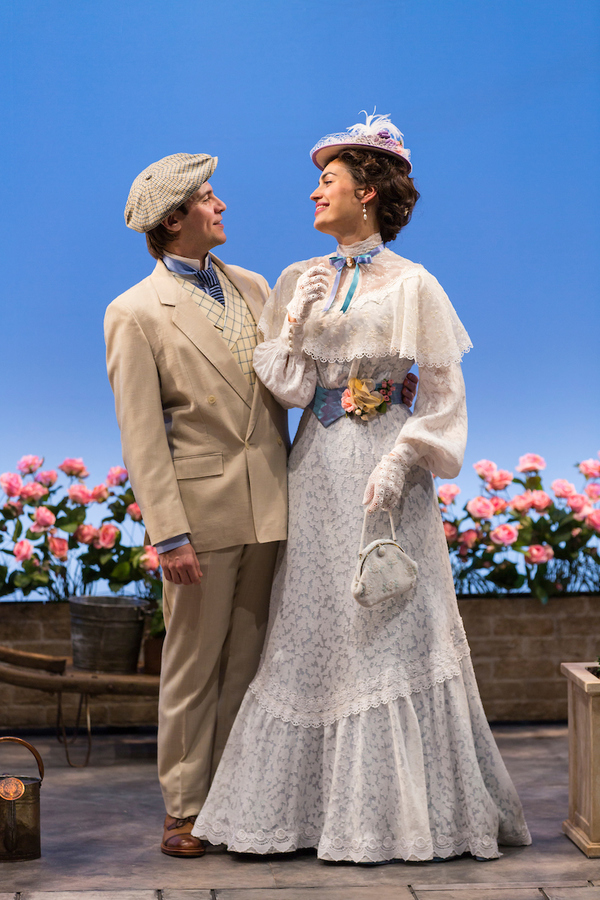 Federico Rodriguez (John Worthing) and Rosa Gilmore (Gwendolen Fairfax) in The Importance of Being Earnest at Two River Theater.