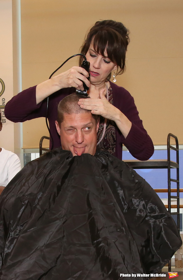 Photo Coverage: Beth Leavel and Christopher Sieber Get Hairy as Miss Hannigan Gives Daddy Warbucks a Buzz Cut!