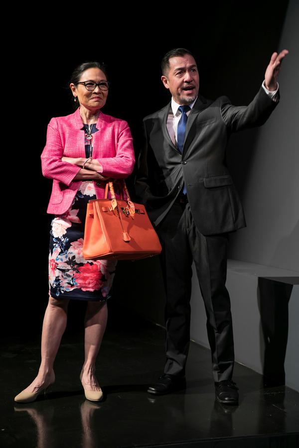 Lydia Gaston and Alan Ariano