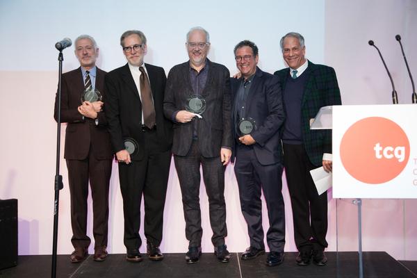 Scott Frankel, Michael Korie, Doug Wright, Michael Greif and Philip Himberg Photo