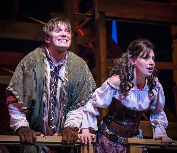 Andrew Keeler as Quasimodo and Catherine Carpenter Cox as Esmeralda