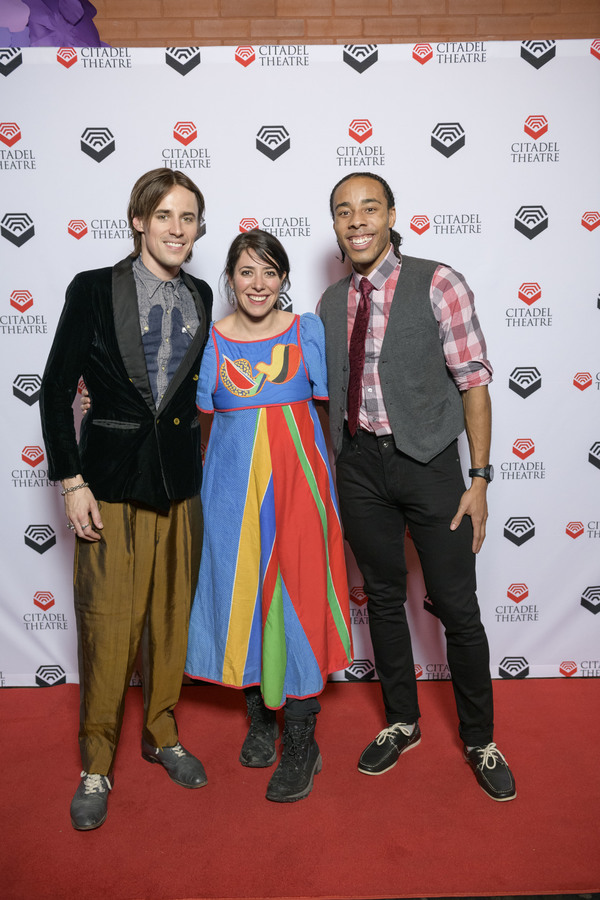 Reeve Carney, Rachel Chavkin and Hal Wesley Rogers