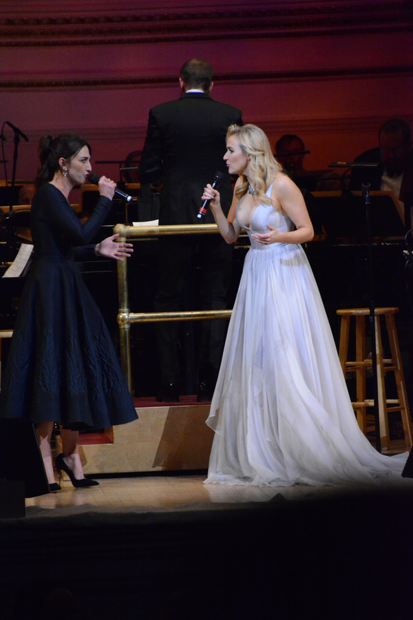 Sara Bareilles and Betsy Wolfe