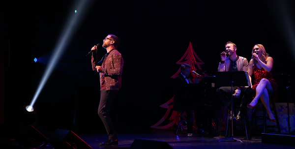 Josh Kaufman, Peter Hollens,, and Evynne Hollens Photo