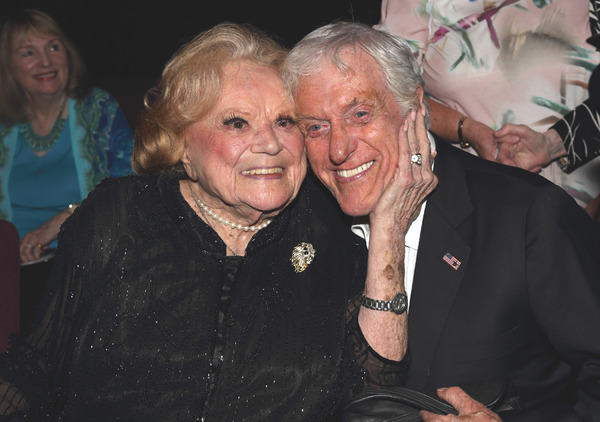 "Roe Marie and Dick Van Dyke in between screenings of ""Wait For Your Laugh"""
