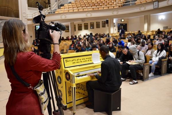 Photo Flash: Chilina Kennedy Celebrates BEAUTIFUL Sing for Hope Piano at Carole King's Alma Mater