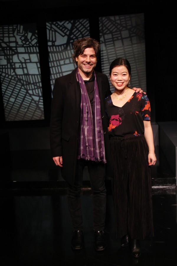 Director John Giampietro and playwright Zhu Yi