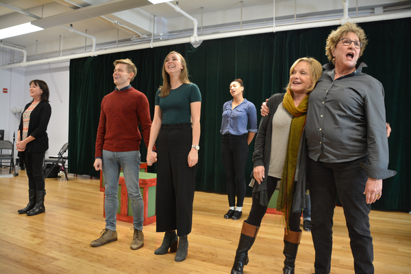 Kim Crosby, Andrew Keenan-Bolger, Samantha Hill, Cathy Rigby and Pamela Myers