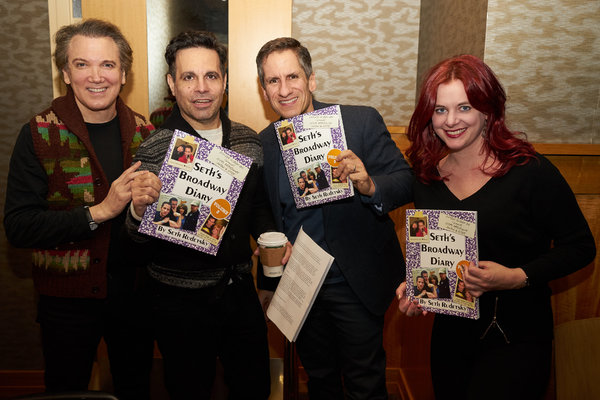 Charles Busch, Mario Cantone, Seth Rudetsky and Brisa Trinchero, co-founder of Dress Circle Publishing
