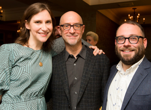 Kait Kerrigan, David Lander, and Stephen Brackett celebrate the Opening Night of THE MAD ONES at Sarabeth's on Central Park South. Photo: Jeffrey Lee / On the Spot Image