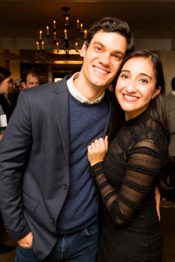 Robert Lenzi and Krystina Alabado celebrate the Opening Night of THE MAD ONES at Sarabeth's on Central Park South. Photo: Jeffrey Lee / On the Spot Image
