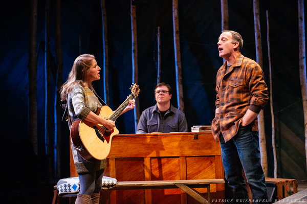 "L-R: Merideth Kaye Clark, Mont Chris Hubbard and Leif Norby in ""Winter Song.""  Photo"