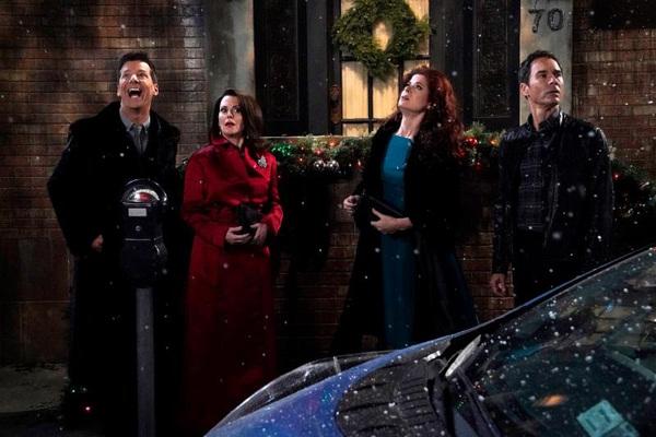 Pictured bottom: (l-r) Sean Hayes as Jack McFarland, Megan Mullally as Karen Walker, Debra Messing as Grace Adler, Eric McCormack as Will Truman