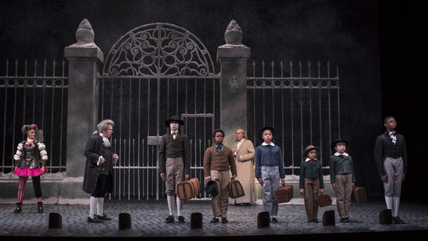 Meighan Gerachis (Schoolteacher), Aaron Stone, Kei, Larry Yando (Ebenezer Scrooge), Andrea Crisp, Paris Strickland, Maggie Chong and Cameron Goode
