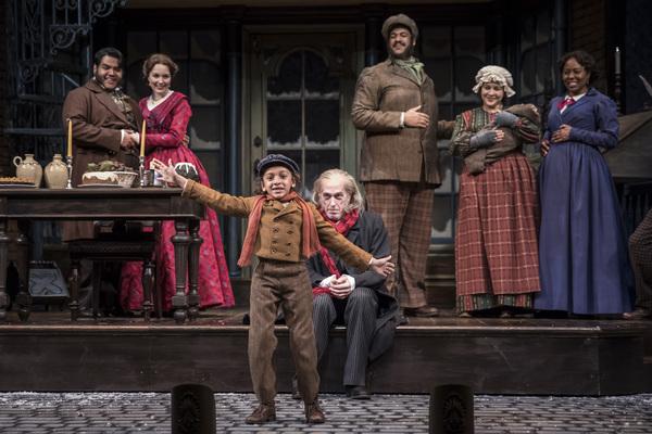 J. Salome Martinez (Abe), Ali Burch (Frida), Paris Strickland (Tiny Tim), Larry Yando (Ebenezer Scrooge), Jonah D. Winston, Sadieh Rifai and Penelope Walker (Mrs.Crumb)