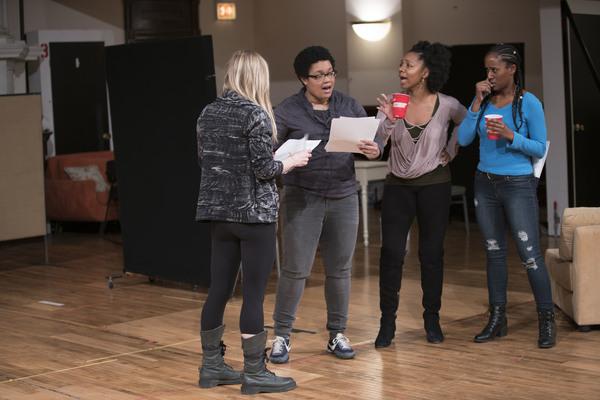 Kelly O'Sullivan (That Bitch on the Couch/White Woman), Danielle Davis (Ry), Nora Carroll (Octavia) and Celeste Cooper (Imani)