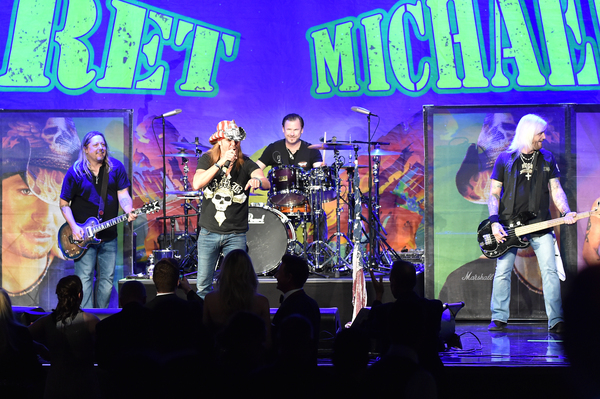 Bret Michaels performed on stage