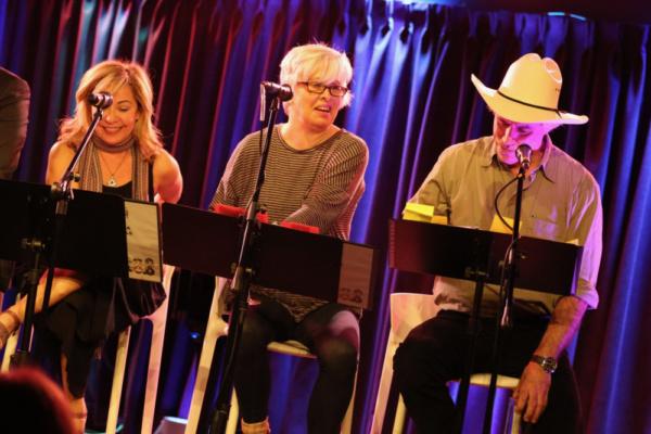 A Urinetown mini-reunion! Jennifer Cody, Nancy Opel & Jeff McCarthy