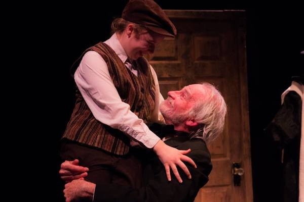 """AUDREY STOWE (Tiny Tim) and JOSEPH GRANT (Scrooge) from the Lakewood Playhouse Production of """"A CHRISTMAS CAROL"""""""