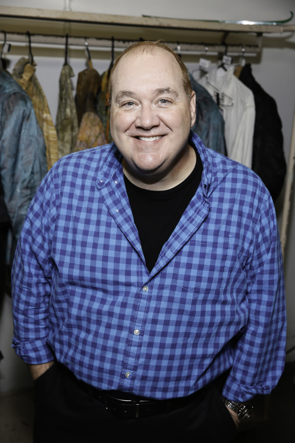 """Cast member Blake Hammond backstage after the opening night performance of """"Something Rotten!"""" at Center Theatre Group/Ahmanson Theatre on Tuesday, November 21, 2017, in Los Angeles, California. (Photo by Ryan Miller/Capture Imaging)"""