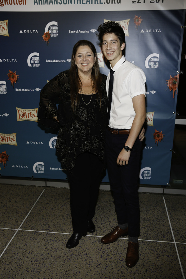 "Actors Camryn Manheim and Milo Manheim arrive for the opening night performance of ""Something Rotten!"" at Center Theatre Group/Ahmanson Theatre on Tuesday, November 21, 2017, in Los Angeles, California. (Photo by Ryan Miller/Capture Imaging)"