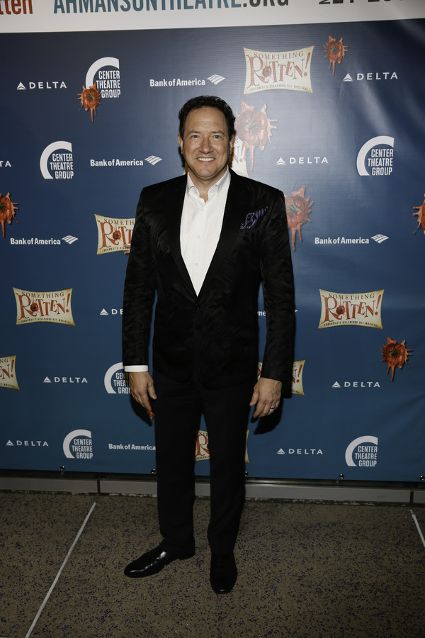 """Producer Kevin McCollum arrives for the opening night performance of """"Something Rotten!"""" at Center Theatre Group/Ahmanson Theatre on Tuesday, November 21, 2017, in Los Angeles, California. (Photo by Ryan Miller/Capture Imaging)"""