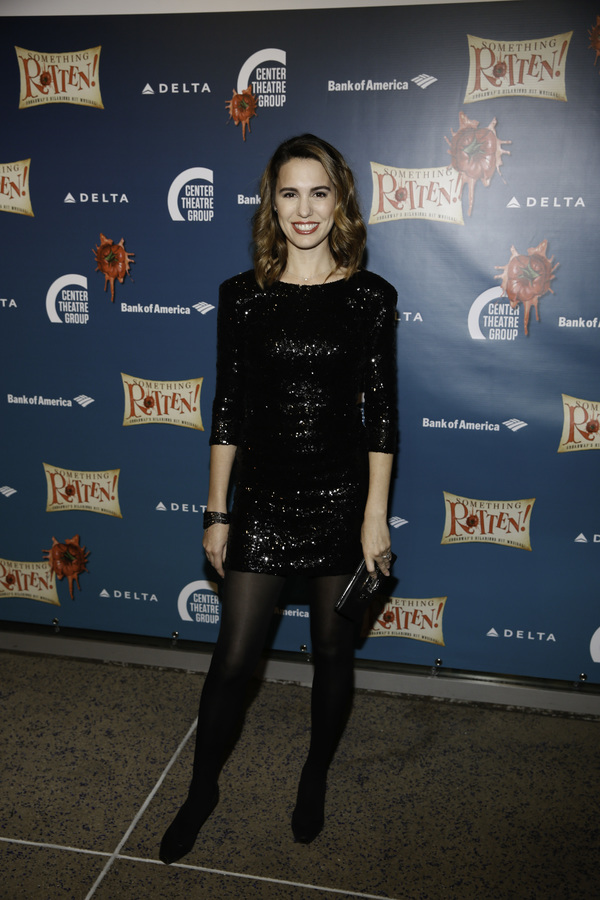 "Actor Christy Carlson Romano arrives for the opening night performance of ""Something Rotten!"" at Center Theatre Group/Ahmanson Theatre on Tuesday, November 21, 2017, in Los Angeles, California. (Photo by Ryan Miller/Capture Imaging)"