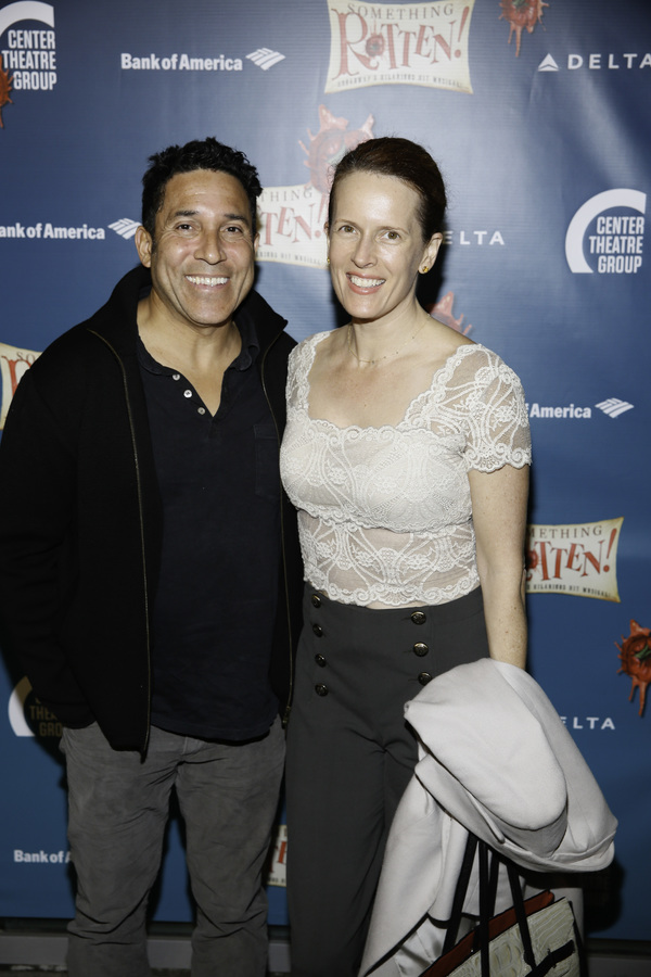 """Actors Oscar Nunez and Ursula Whittaker arrive for the opening night performance of """" Photo"""