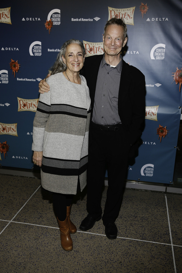 "Martha Roth and actor Bill Irwin arrive for the opening night performance of ""Something Rotten!"" at Center Theatre Group/Ahmanson Theatre on Tuesday, November 21, 2017, in Los Angeles, California. (Photo by Ryan Miller/Capture Imaging)"