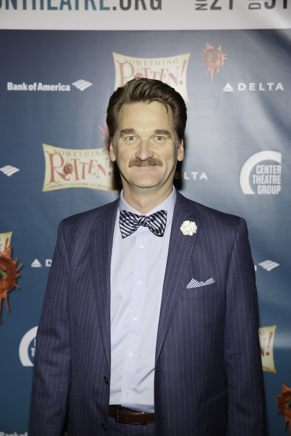 """Actor Pete Gardner arrives for the opening night performance of """"Something Rotten!"""" at Center Theatre Group/Ahmanson Theatre on Tuesday, November 21, 2017, in Los Angeles, California. (Photo by Ryan Miller/Capture Imaging)"""
