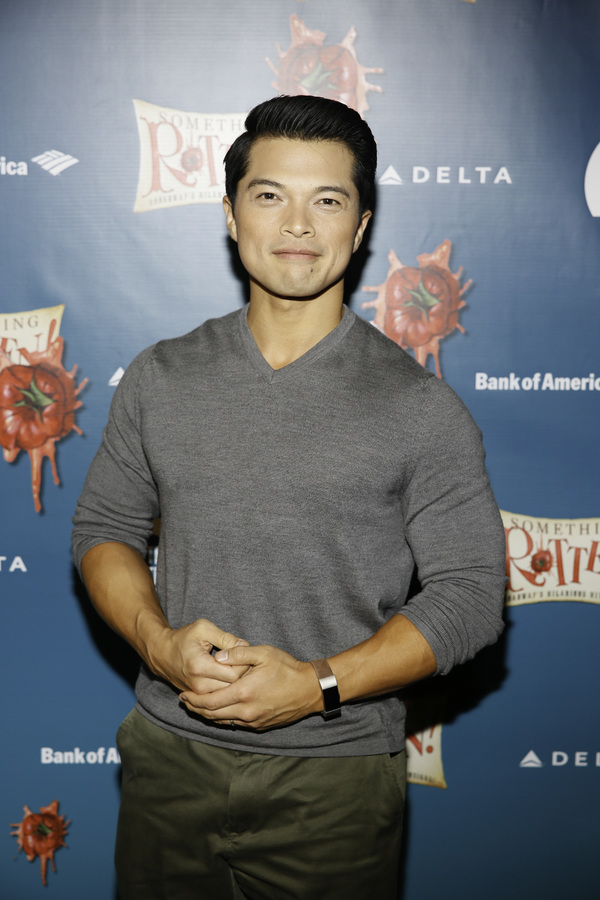"""Actor Vincent Rodriguez III arrives for the opening night performance of """"Something Rotten!"""" at Center Theatre Group/Ahmanson Theatre on Tuesday, November 21, 2017, in Los Angeles, California. (Photo by Ryan Miller/Capture Imaging)"""