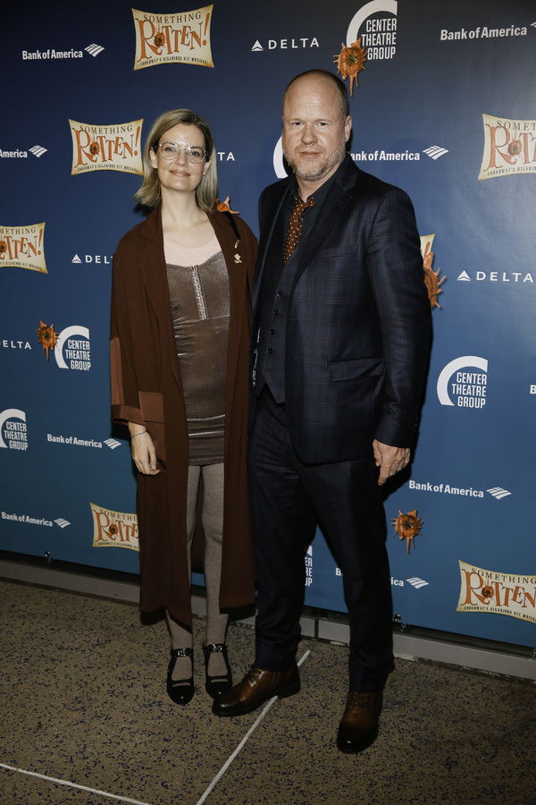 """Guest and director Joss Whedon arrive for the opening night performance of """"Something Rotten!"""" at Center Theatre Group/Ahmanson Theatre on Tuesday, November 21, 2017, in Los Angeles, California. (Photo by Ryan Miller/Capture Imaging)"""