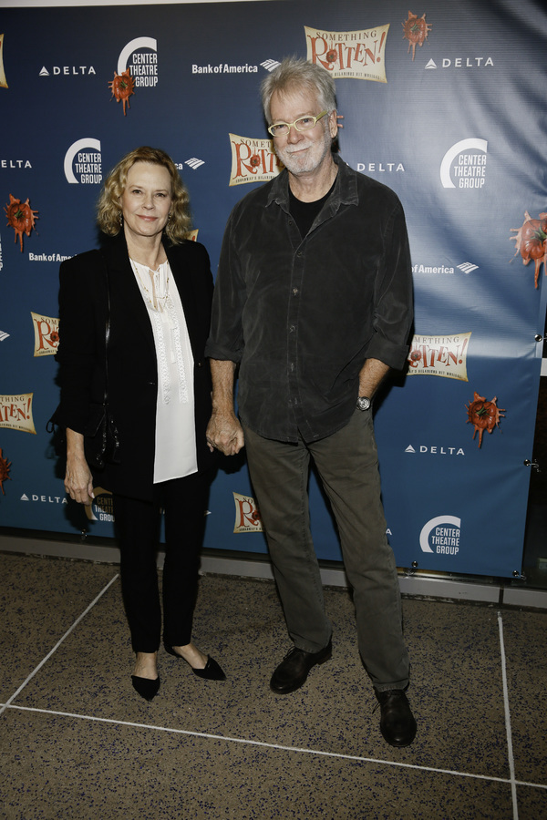 "Actor JoBeth Williams and director John Pasquin arrive for the opening night performance of ""Something Rotten!"" at Center Theatre Group/Ahmanson Theatre on Tuesday, November 21, 2017, in Los Angeles, California. (Photo by Ryan Miller/Capture Imaging)"