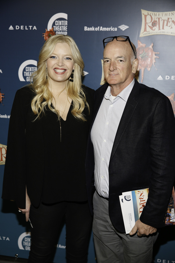 "Actor Melissa Peterman and John Brady arrive for the opening night performance of ""Something Rotten!"" at Center Theatre Group/Ahmanson Theatre on Tuesday, November 21, 2017, in Los Angeles, California. (Photo by Ryan Miller/Capture Imaging)"