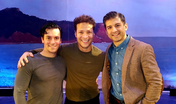 Photo Flash: Tony Yazbeck Visits Broadway Buddies in THE NEW WORLD at Bucks County Playhouse