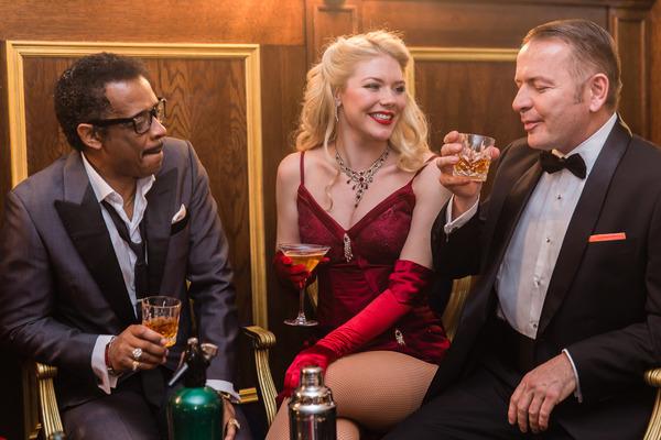 David Hayes (Sammy Davis Jr), Joanna Walters and Garrett Phillips (Frank Sinatra)