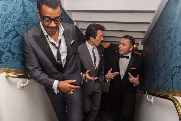 David Hayes (Sammy Davis Jr), Nigel Casey (Dean Martin) and Garrett Phillips (Frank Sinatra)