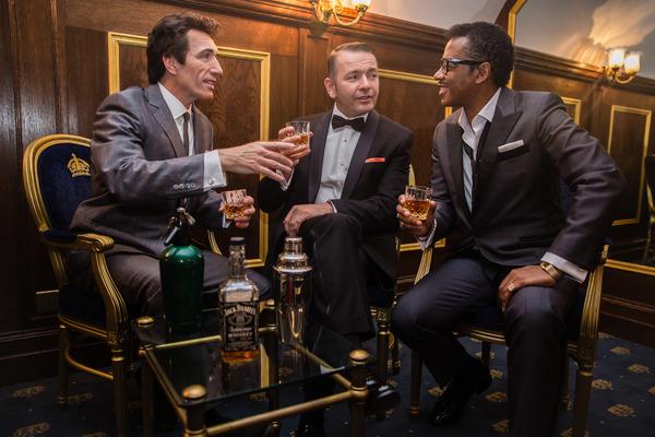 Nigel Casey (Dean Martin), Garrett Phillips (Frank Sinatra) and David Hayes (Sammy Davis Jr)