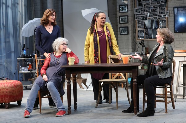 (l-r) Polly Draper, Kathryn Grody, Franchelle Stewart Dorn and Ellen Parker in 20TH CENTURY BLUES, a new play by Susan Miller, directed by Emily Mann, at the The Alice Griffin Jewel Box Theatre at The Pershing Square Signature Center, 480 West 42nd Street