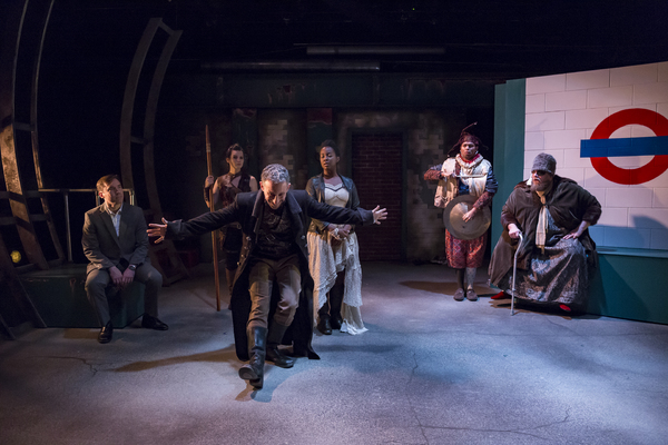 Know presents NEVERWHERE - LtoR Rory Sheridan-Jordan Trovillion-Jeremy Dubin-Ernaisja Curry-Andrew Ian Adams-Chris Wesselman-Photo by Mikki Schaffner