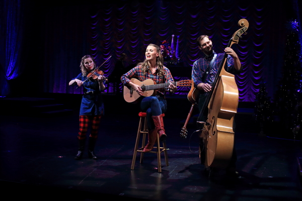 Kendra Jo Brook, Katie Barton and Ben Hope in A Flat Rock Playhouse Christmas Photo